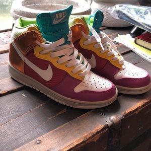 Multi colored Nike High tops